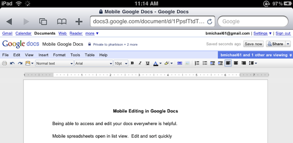editing google docs