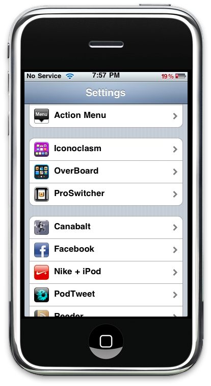 Iconoclasm iPhone Settings