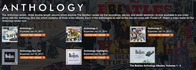 the beatles anthology to launch as itunes exclusive