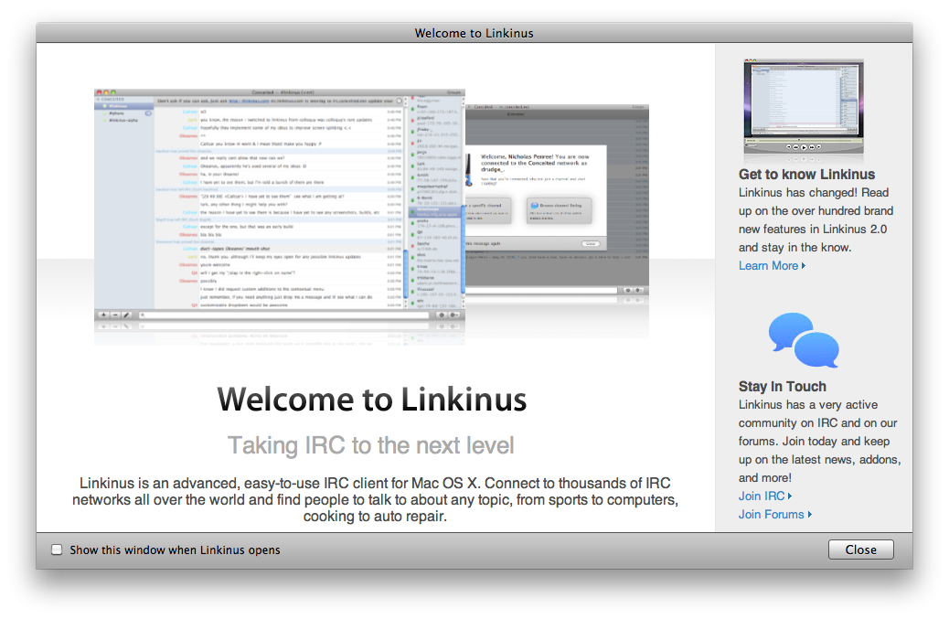 Free irc chat client for mac