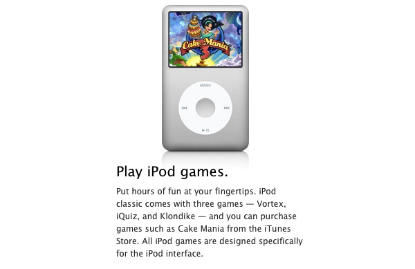 wheel games for ipod classic