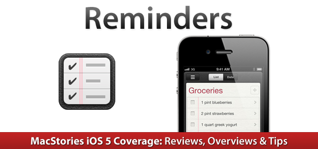 IOS 5 Reminders MacStories