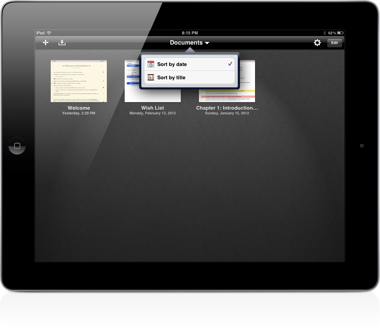 omnioutliner 1 2 for ipad sets the stage for icloud sync