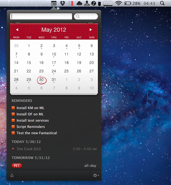 Fantastical 1 3 adds reminders integration